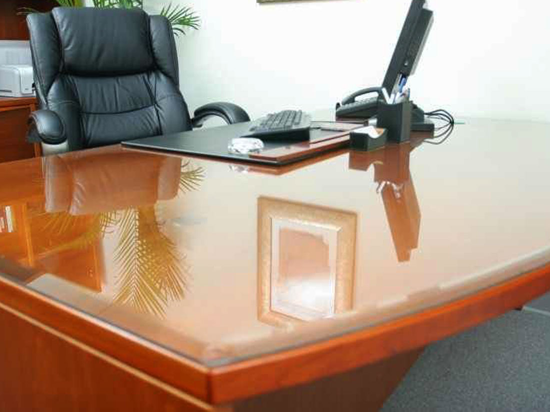 Protective perspex table-top